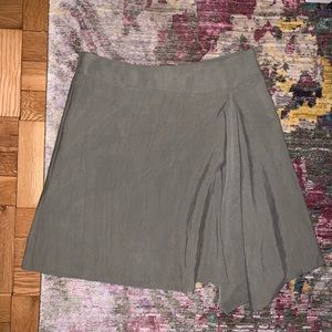 BCBGeneration Asymmetrical Faux-Wrap Mini Skirt
